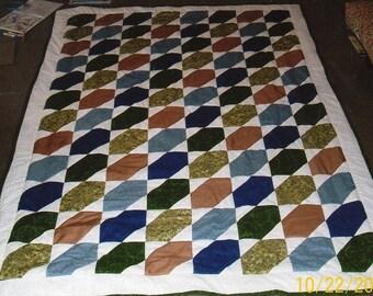Desert Jewels Twin Quilt Pattern - Beginner - Quarter-Inch Seams