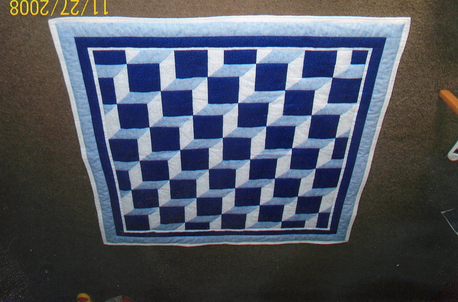 Intermediate Quilting Patterns : Easy Baby Blocks Quilt Pattern Intermediate Quarter-Inch