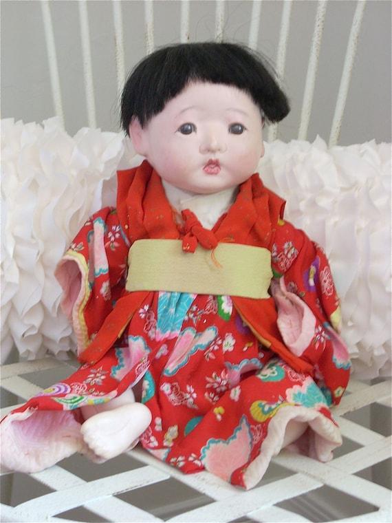Vintage Japanese Ichimatsu Baby Doll