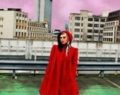 Red riding hood coat. Custom made- Winter coat