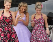 Polka dot dress-50's bridesmaid- custom colour