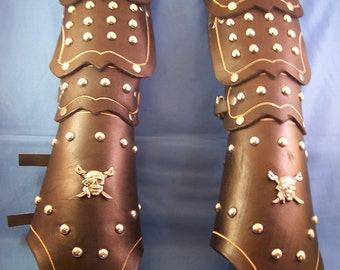 Spiked Leather Medieval / Steam Punk Gauntlets SCA LARP