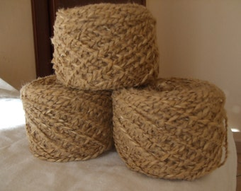 Natural, Cream,Capuccino brown  Italian blend wool  190 gr