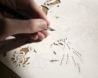 papercut ketubah | wedding vows | anniversary gift | Custom papercut