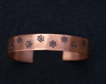 "Personalized 1/2"" Copper Hand Stamped Cuff Bracelet"