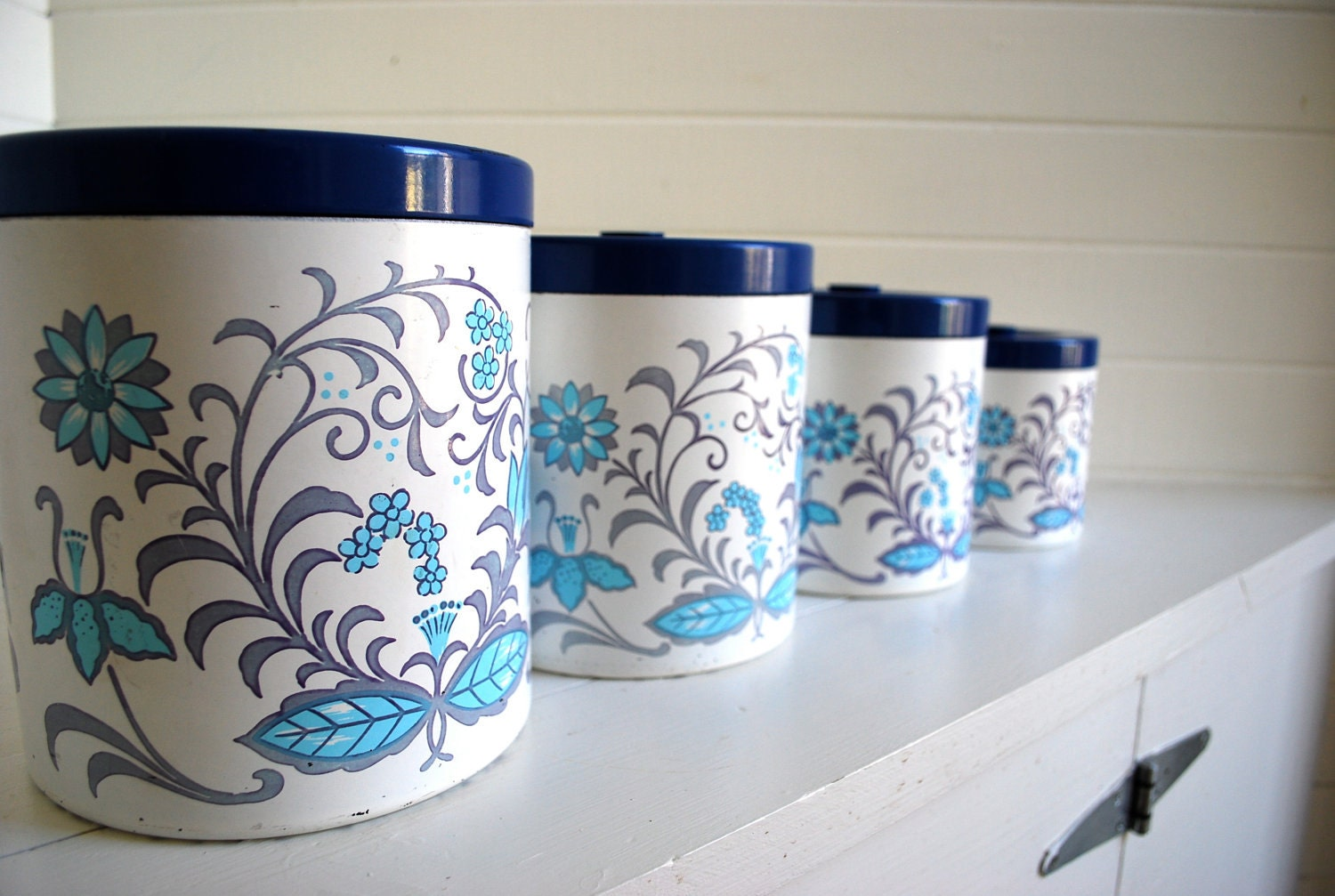 folk floral canister set great for your by sweetlingvintage