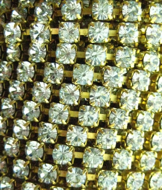 RESERVED For MH -Rhinestone Chain - 1 Yard with Todays Discount Taken - Lt. Azure 17ss (4.10mm)