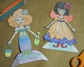 Printable Paper Dolls, Color Your Own (Best Friends)