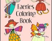 Printable Coloring Book  FAERIES