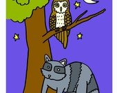 Printable Coloring Book  WOODLAND ANIMALS