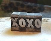 xoxo - antique letterpress type - letters x, o, x, o