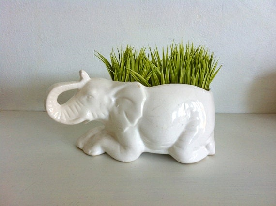 White Elephant Animal Garden Planter Unique And By