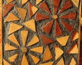 Vintage Natural Mosaic Wood Trivet Made in Amazon Ecuador