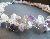 Amethyst Wire Crochet Necklace