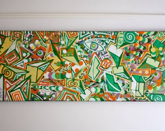 ORIGINAL abstract large contemporary pop art fine art urban street art modern cubism painting