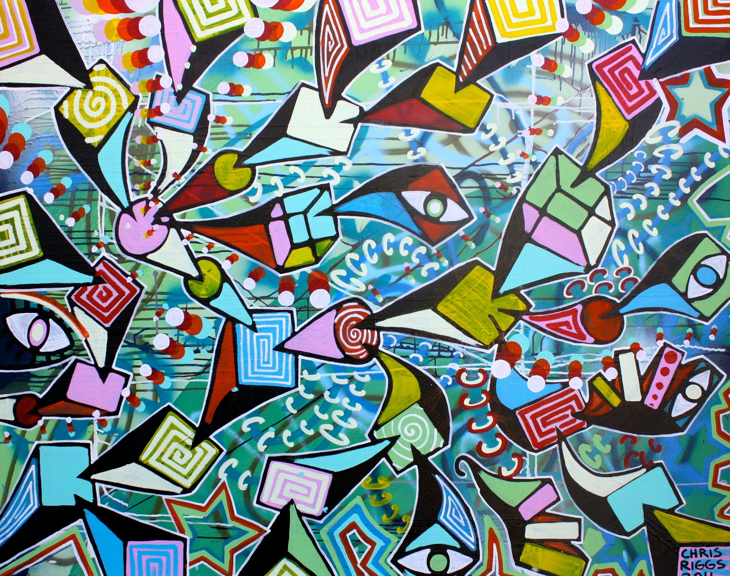 Most Famous Abstract Paintings Famous Abstract Art: ORIGINAL Surrealism Abstract Street Art Urban Pop Art Acrylic