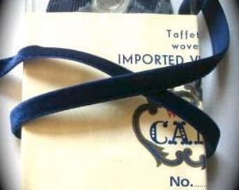 "Vintage Velvet - (3/8"") 100% Rayon 10 yds- Royal Blue -Made in Germany -SALE..SALE -Cameo Brand"
