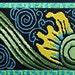 "Stunning Jacquard Ribbon - 1 7/8"" x 1 yd Black/Sage Green/Olive/Yellow/Turquoise- Baroque4"