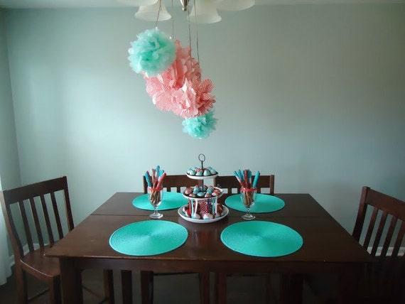 Items similar to 7 paper pom poms nursery decor baby for Pom pom room decor