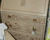 Chinoiserie painted secreary/desk  CUSTOM ORDER