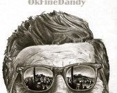 JFK Graphite Sketch Print