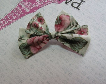 Linen Rose Hair Bow