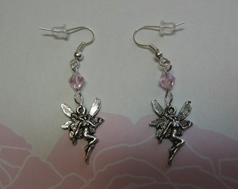 Pink Crystal Fairy Queen Earrings