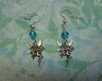 Blue Crystal Fairy Queen Earrings