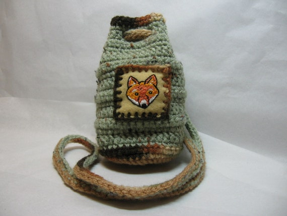 Sage Fox Neck Pouch Bag