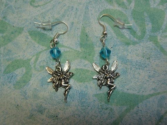 Blue Crystal Fairy Queen Earrings