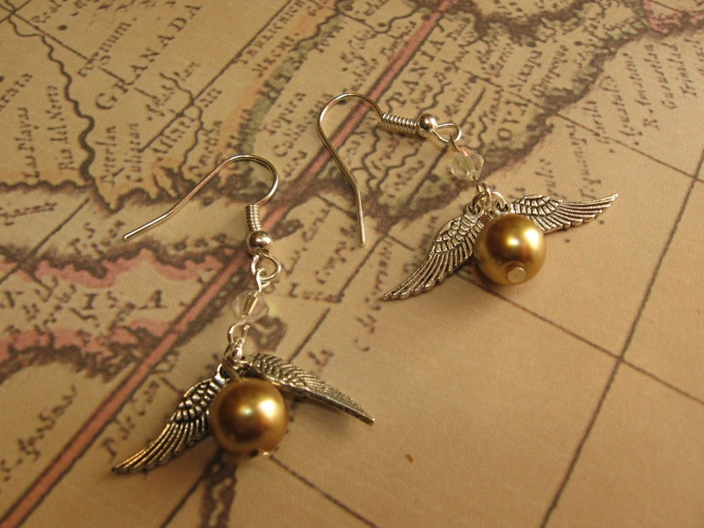 golden snitch earrings golden snitch earrings 9777