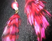 Lovin Grizzly Hand Dyed Natural Feather Earrings