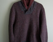 vintage pendleton sweater/mens wool sweater/vintage striped sweater medium large extra large