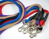 100% to RESCUE - braided 6 foot clip dog lead CHOOSE COLOR by Senior Spaniel Rescue