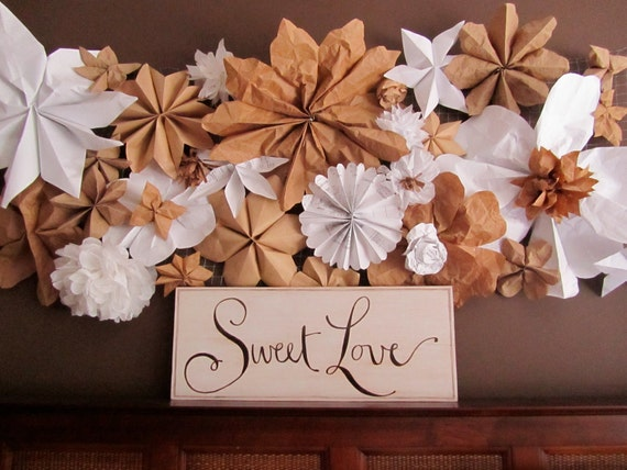 SALE - Sweet love hand painted wood board for wedding, was 45.00 now 32.00