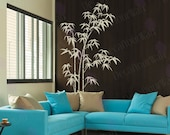 Bamboo Wall Decal Bedroom Living room Large Tree Stickers Japanese Chinese Decals Wall Art Removable Vinyl Sticker Mural Home Decor Kitchen