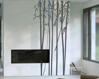 "Bamboo Wall Decal Large Tree Decal Vinyl Stickers Living Room Bedroom Sticker Removable Home Decal Room Japanese Chinese 94""H"