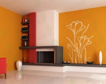 Floral Wall Decals Flower Wall Art Home Decor Removable Vinyl Stickers size 3