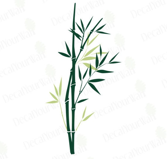 Bamboo Wall Art wall decal bamboo tree branch wall art home decor chinese