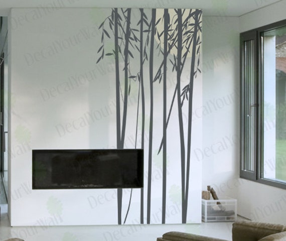 Bamboo Wall Art bamboo wall decal bedroom living room nursery wall art vinyl