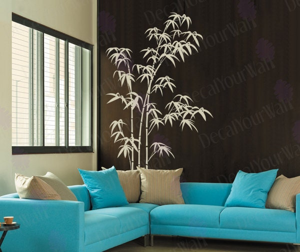 Bamboo Wall Decal Bedroom Living Room Large Tree Stickers - Vinyl wall decals bamboo