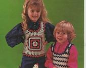 ON SALE - Trio Knits - Cleakheaton Childrens Crochet Pattern No 59 Vintage 1970s