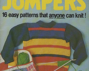 On Sale - Jolly Jumper Childrens Knitting Pattern Book - Vintage 1980's