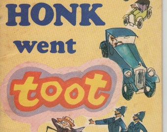 ON SALE -Honk went Toot Picturebook for  Children Vintage 1975