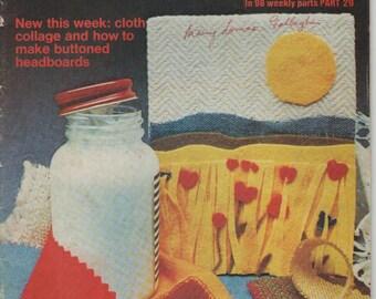 ON SALE - Golden Hands Encyclopaedia of Crafts Part 29 Vintage 1970s