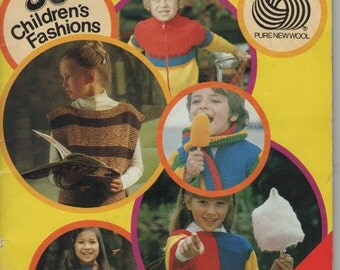 On Sale - Knitting Book Australian Wool Corporation - Children's Knitting and Crochet - Vintage 1980s