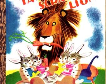 On Sale - Tawny Scrawny Lion - Vintage Little Golden Book - Australian Edition - 1960s