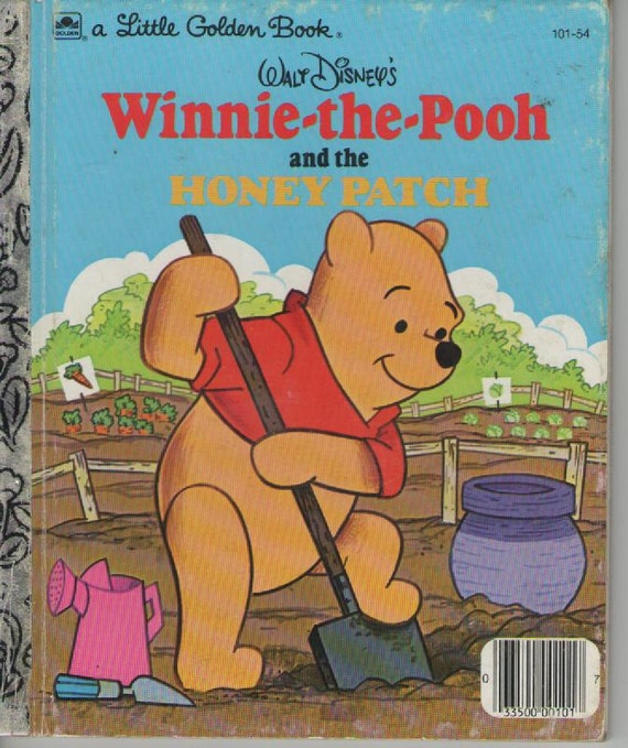 ON SALE - Winnie the Pooh and the Honey Patch -  Vintage Little Golden Book - American Edition