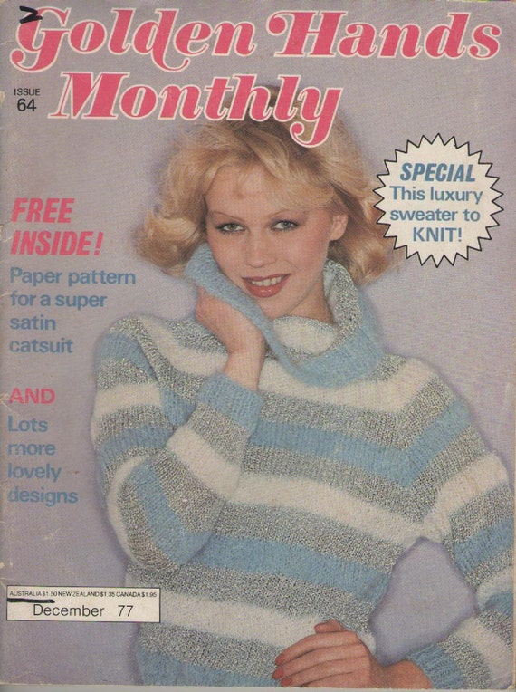 Crochet Monthly Magazine : Hands Monthly Magazine Issue 64 Vintage 1970s, Knitting, Crochet ...