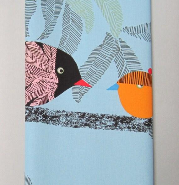 SALE: Yoga Mat Bag - Blue, Birds with Adjustable Strap, Hidden Pocket - Yoga Bag